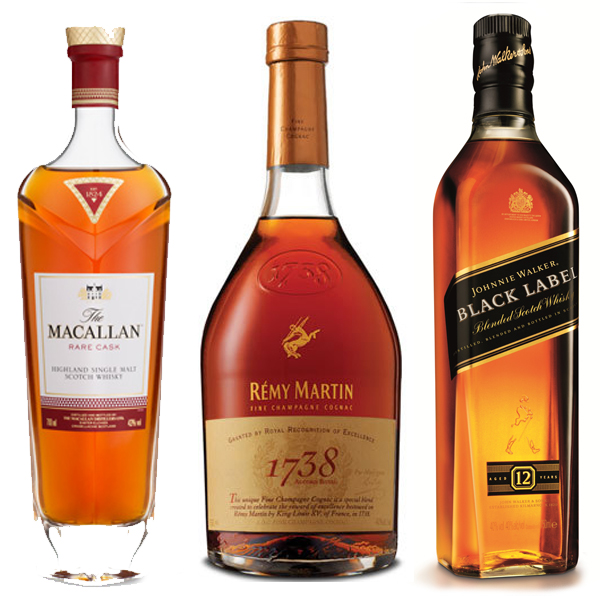 MACALLAN, REMY & JOHNNY WALKER